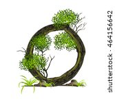 tree font on white background.... | Shutterstock .eps vector #464156642
