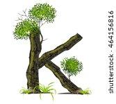 tree font on white background.... | Shutterstock .eps vector #464156816