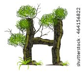 tree font on white background.... | Shutterstock .eps vector #464156822