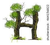 tree font on white background.... | Shutterstock .eps vector #464156822
