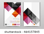 geometric brochure front page ... | Shutterstock .eps vector #464157845