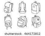 travel backpack bag school bag... | Shutterstock .eps vector #464172812