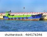 italy  venice  workboat. | Shutterstock . vector #464176346