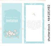 vintage vector card templates.... | Shutterstock .eps vector #464181482