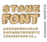 stone font. set of letters from ... | Shutterstock .eps vector #464187122