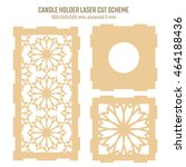 diy laser cutting vector scheme ... | Shutterstock .eps vector #464188436