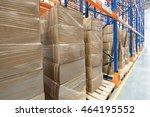 shelves in distribution... | Shutterstock . vector #464195552