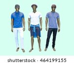 Three Male Mannequins In Summer ...