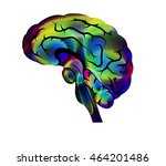 illustration of the brain.... | Shutterstock .eps vector #464201486