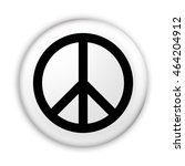 badge peace symbol  3d... | Shutterstock . vector #464204912