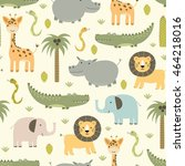 Safari Animals Seamless Patter...