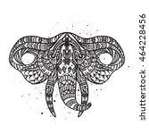 head elephant on the grange... | Shutterstock .eps vector #464228456