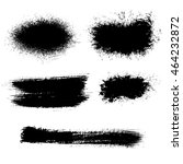 mascara brush stroke. vector... | Shutterstock .eps vector #464232872