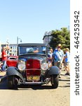Small photo of VICTORIA, BRITISH COLUMBIA - JULY 24, 2016: The largest collection of Deuces anywhere staged all around the beautiful Victoria Inner Harbor. Northwest Deuce Day is a sight to see!