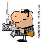 gangster man holding two... | Shutterstock .eps vector #46426063