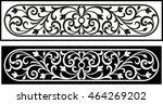 vector vintage border frame... | Shutterstock .eps vector #464269202