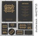 elegant menu template.   Shutterstock .eps vector #464278715