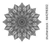 mandala. round ornament pattern. | Shutterstock .eps vector #464298302