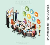isometric business people... | Shutterstock .eps vector #464300486