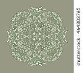 vintage baroque mandala... | Shutterstock .eps vector #464303765