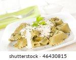 delicious dish of tortellini...   Shutterstock . vector #46430815
