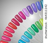 nail polish. gel polish. nail... | Shutterstock .eps vector #464311142