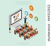 isometric business people... | Shutterstock .eps vector #464312012