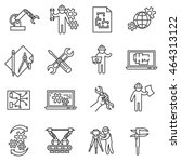 engineering icons set. ... | Shutterstock .eps vector #464313122