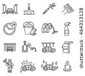 car wash icons set. automatic... | Shutterstock .eps vector #464313128