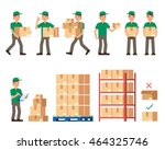 warehouse inventory and...   Shutterstock .eps vector #464325746