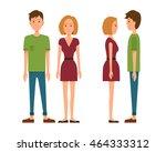vector illustration of men in... | Shutterstock .eps vector #464333312