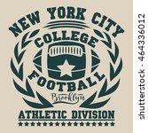 american football  vintage ... | Shutterstock . vector #464336012
