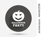 halloween pumpkin sign icon.... | Shutterstock . vector #464342558