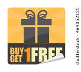 black buy 1 get 1 free... | Shutterstock . vector #464352125