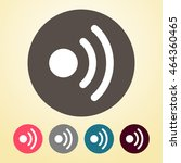 wi fi icon in round shape.