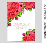 romantic invitation. wedding ... | Shutterstock . vector #464361572