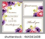 romantic invitation. wedding ... | Shutterstock . vector #464361608
