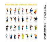 vector flat people portraits... | Shutterstock .eps vector #464368262