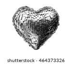 metal heart abstract 3d... | Shutterstock . vector #464373326