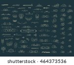 vintage decor elements and... | Shutterstock .eps vector #464373536