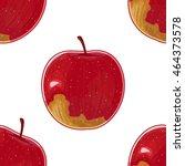 fuji apple pattern | Shutterstock .eps vector #464373578