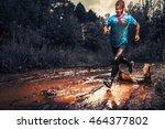 Man Athlete Running In The...