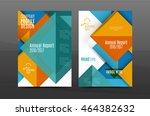 colorful geometric a4 business... | Shutterstock .eps vector #464382632