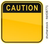 yellow warning blank caution...   Shutterstock .eps vector #46438771