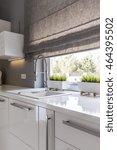 image of high gloss white... | Shutterstock . vector #464395502