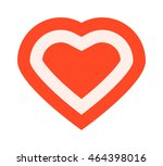 simple red heart sharp vector... | Shutterstock .eps vector #464398016