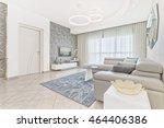 luxury modern living room | Shutterstock . vector #464406386