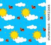 abstract childish geometric...   Shutterstock .eps vector #464411666
