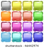 glossy decorated web buttons ...   Shutterstock .eps vector #46442974