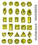 set of realistic yellow topaz... | Shutterstock .eps vector #464430056